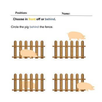 Math Positions Spatial Sense