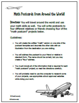 Math Geography Projects, Calculations From Countries Around the World