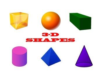 Math Poster: 3-D SHAPES