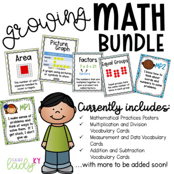 Math Poster Bundle *Vocabulary and Math Practices Included*