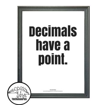 Math Poster - Decimals