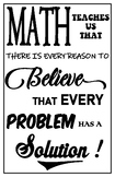 Math Poster - Every Problem has a Solution (11 x 17) Ledger Sized