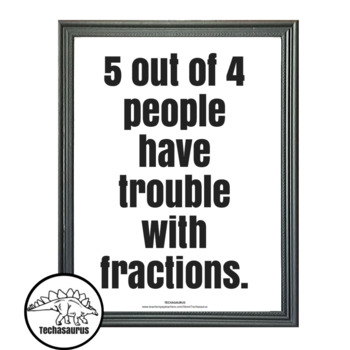 Math Poster - Fractions