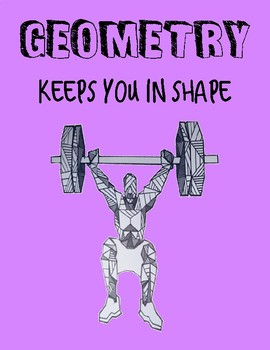 "Math Poster ""Geometry keeps you in shape"""