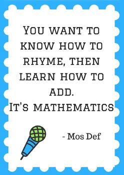 Math Poster - Hip Hop - Mos Def