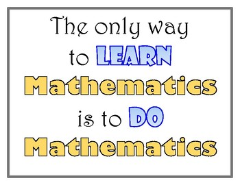 Math Poster - How to Learn Mathematics