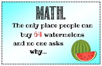 Math Poster - Humorous - 11 x 17 Printable