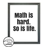 Math Classroom Decor - Free Math Poster