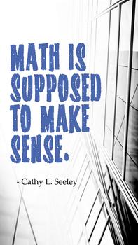 Math Poster: Math is supposed to make sense