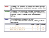 Math Poster: Mean, Mode, and Median