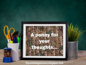 Math Poster ~ A Penny For Your Thoughts ~ Funny Classroom Decor