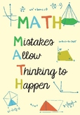 Math Poster: mistakes allow thinking to happen