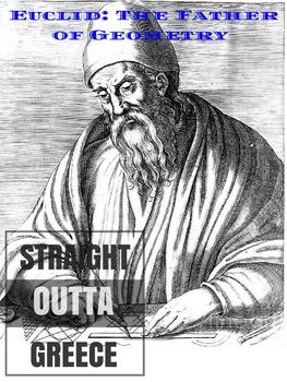 Math Poster of Euclid -- Math Application - Math History - Straight Outta Series