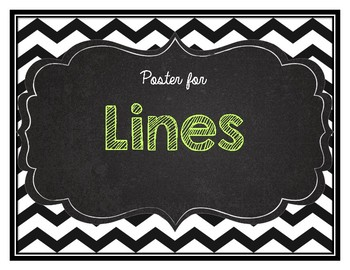 Math Poster on Lines- intersecting perpendicular parallel