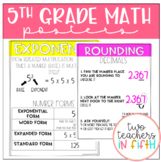 5th Grade Year Long Math Posters