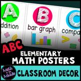 Math Alphabet - ABCs of Elementary Math Posters Classroom Decor