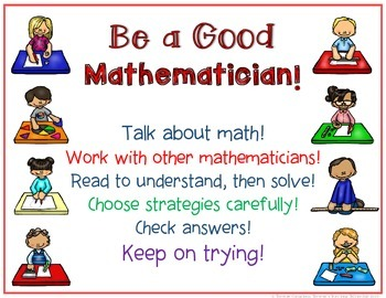 Math Posters Be a Good Mathematician! Posters For Your Math Workshop