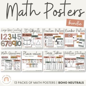 Math Posters Bundle | Neutral Color Palette by Miss Jacobs ...