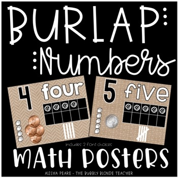Math Posters {Burlap}