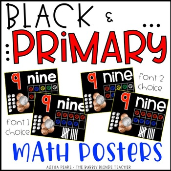 Math Posters {Black & Primary}