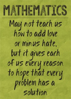 math posters inspirational sayings crinkled solid colors