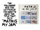 Middle School and Algebra I Math Posters Inspired by Song Lyrics - Set of 27!