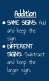 Math Posters-Integers and PEMDAS