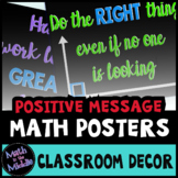 Math Posters - Positive Message Math-Themed Posters for th