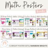 Math Posters - Rainbow Decor - BUNDLE