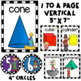 Math Posters- Ten Frames, Numbers, and Shapes Circus Theme