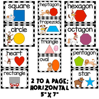 Circus Theme- Ten Frames, Numbers, and Shapes