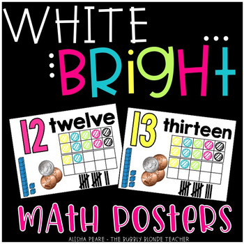 Math Posters {White and Bright Set}