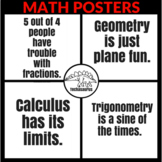 Math Classroom Decor - Math Posters for Calculus, Geometry