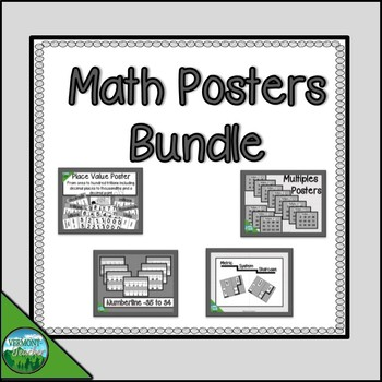 Math Posters for the Intermediate Classroom - gray background