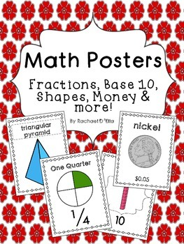 Math Posters {full-page posters for a variety of math topics!}