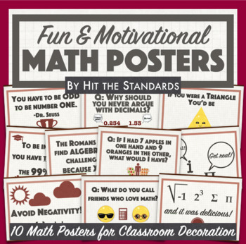 Free Math Posters With Fun Motivational Quotes For Classroom Decoration