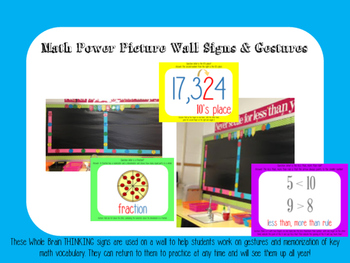 Math Power Pictures for year long spiral review