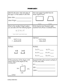 Math Power Quizzes