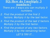 Math PowerPoint Lesson: Multiplying 3 Numbers