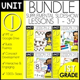 Module 1 Math | 1st Grade BUNDLE | DAILY MATH | Distance Learning