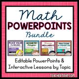 Math PowerPoints Growing Bundle (EDITABLE)