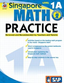 Singapore Math Practice Level 1A SALE 20% OFF! 0768239915