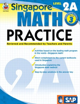 Singapore Math Practice Level 2A SALE 20% OFF! 0768239923