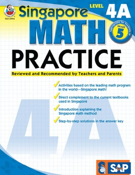 Singapore Math Practice Level 4A SALE 20% OFF! 076823994X