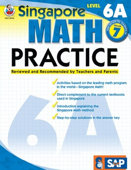 Singapore Math Practice Level 6A SALE 20% OFF! 0768239966