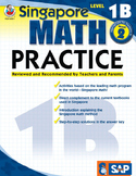 Singapore Math Practice Level 1B SALE 20% OFF! 0768240018
