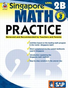 Singapore Math Practice Level 2B SALE 20% OFF! 0768240026