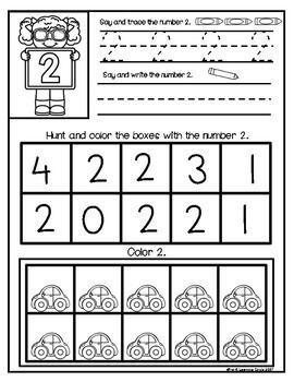 Math Practice  1- 20 Activities