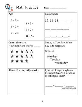 Math Practice 1st Grade A 1-10