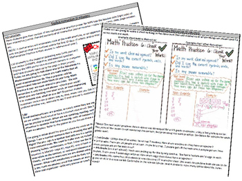 Math Practice 6 Classroom Poster, Lesson Plan, and Journal Pages